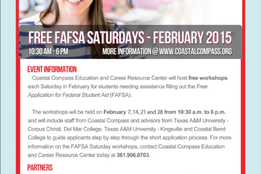 FAFSA Saturdays Return to Coastal Compass This February
